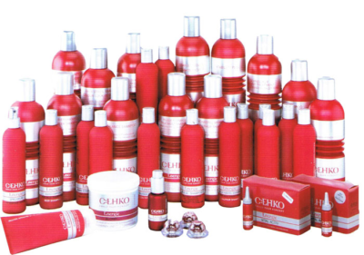 Ассортимент косметических средств для волос от компании c:ehko